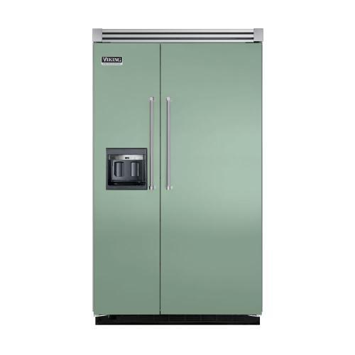 "Viking - Sage 48"" Side-by-Side Refrigerator/Freezer with Dispenser - VISB (Integrated Installation)"