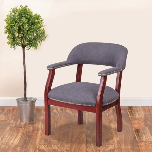Gallery - Gray Fabric Luxurious Conference Chair with Accent Nail Trim