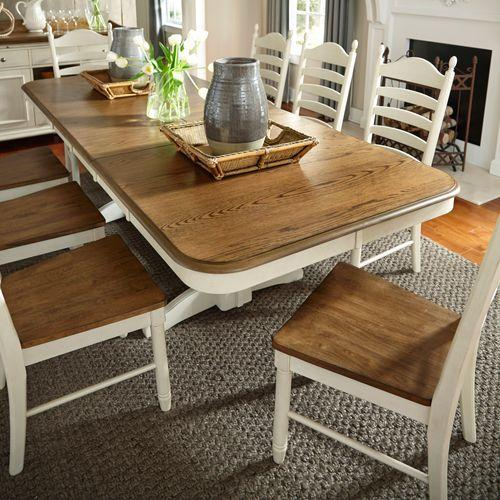 5 Piece Double Pedestal Table Set
