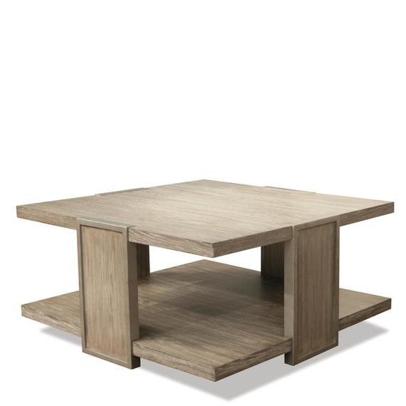 Riverside - Sophie - Square Coffee Table - Natural Finish
