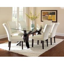 See Details - Berkley 7 Piece Set (Glass Top Table & 6 Side Chairs)