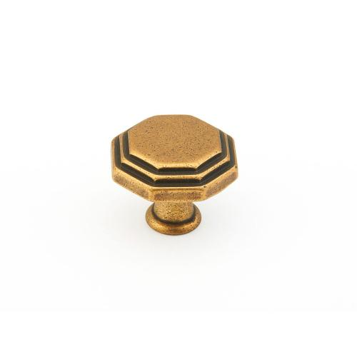 "Firenza, Octagonal Knob, 1-1/8"" diameter, Light Firenza Bronze finish"