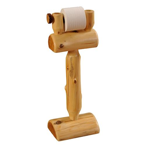 Toilet Paper Holder - Natural Cedar - Freestanding
