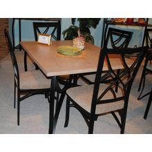 See Details - SANFORD METAL AND WEATHERED OAK 5 PC DINETTE