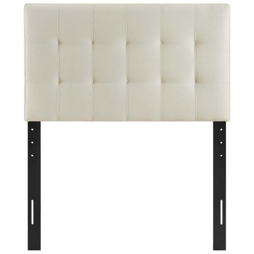 Lily Twin Upholstered Fabric Headboard in Ivory