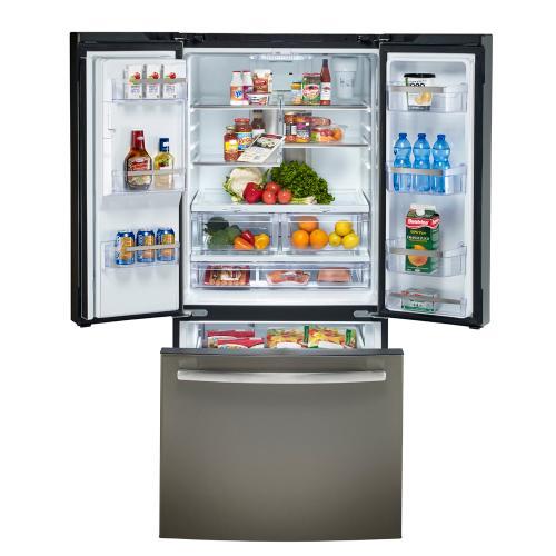 GE Profile 17.5 Cu. Ft. French-Door Refrigerator Slate - PYE18HMLKES