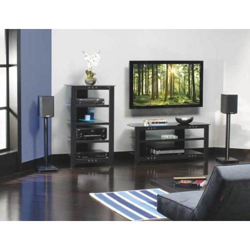 "Black Natural Series 30"" tall for small bookshelf speakers"