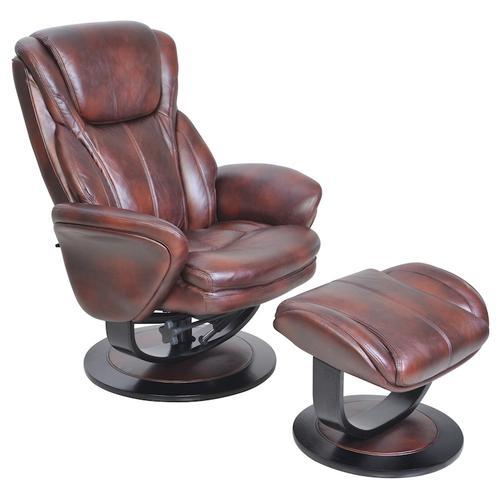 Barca Lounger - Roma 15-8022 Pedestal Chair and Ottoman