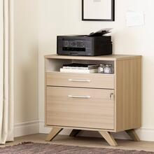 See Details - Helsy - 2-Drawer File Cabinet, Soft Elm and White