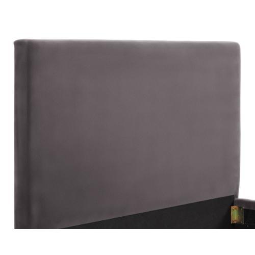 Delilah Grey Velvet Bed in King