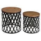 Bengal Manor Iron and Mango Wood Set of Tables Product Image