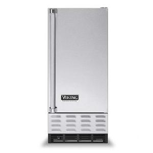 "Metallic Silver 15"" Undercounter/Freestanding Ice Machine - VUIM ((left hinge))"