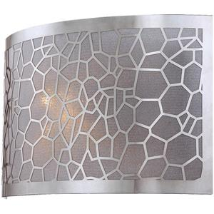 Sconce, Chrome/metal Laser-cut Shade W/liner, E12 B 40w