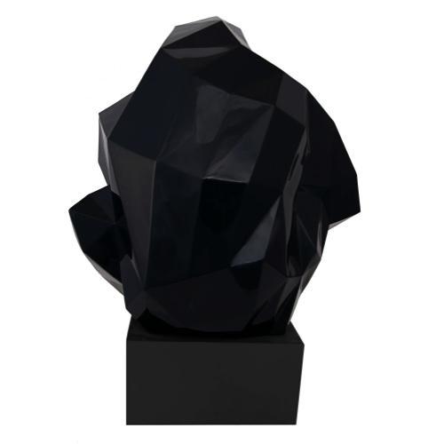 Tov Furniture - Pondering Ape Large Sculpture - Black and Gold