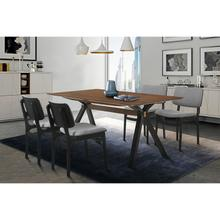 Laredo and Lima 5 Piece Black Rectangular Dining Set