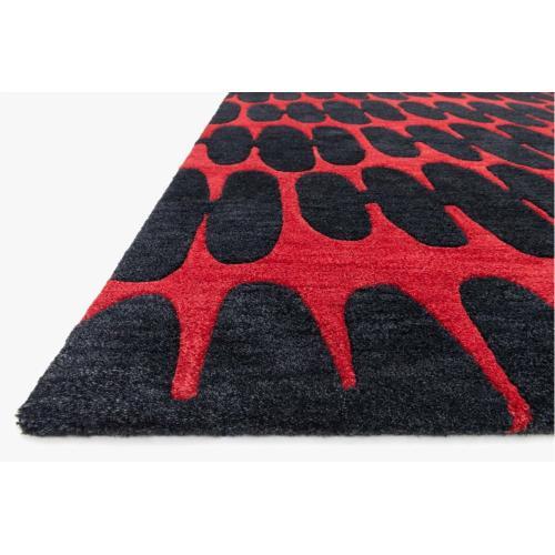 NV-05 Red / Black Rug