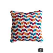 See Details - JENKINS PILLOW- MULTI  Hand Embroidered Wool on Cotton  Down Feather Insert
