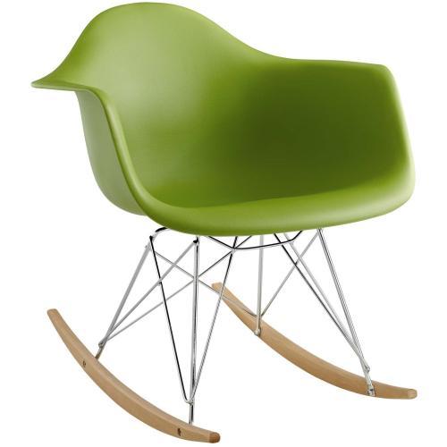 Rocker Plastic Lounge Chair in Green