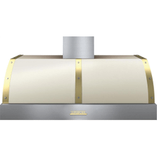 Hood DECO 48'' Cream matte, Gold 1 blower, electronic buttons control, baffle filters