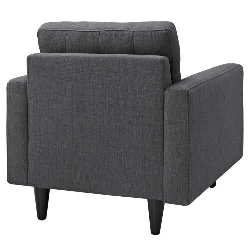 Modway - Empress Upholstered Fabric Armchair in Gray