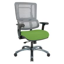 Vertical Grey Mesh Back Chair With Titanium Base