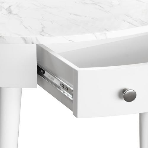Accentrics Home - Mid-Century Oval Desk in White