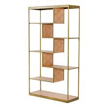 Modrest Jessica - Modern Oak & Brass Bookshelf