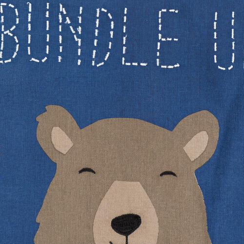"Bundle Up Bear BUB-001 18""H x 18""W"