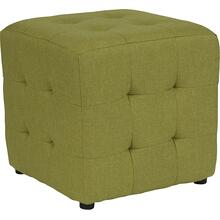 See Details - Avendale Tufted Upholstered Ottoman Pouf in Green Fabric