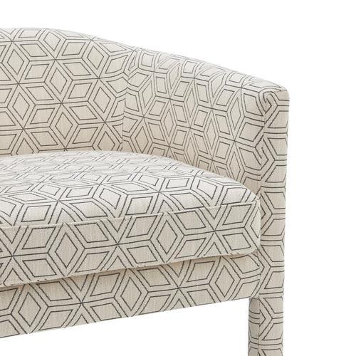 Jennifer Fabric Accent Arm Chair, Geo Diamond
