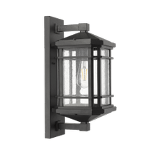 Large Coach Light - Textured Black - Clear Seeded Glass