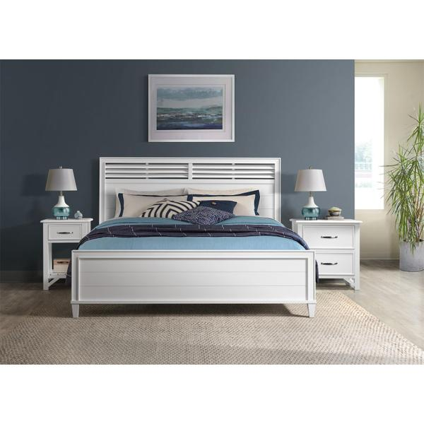 See Details - Talford Cotton - Two Drawer Nightstand - Cotton Finish