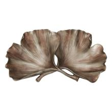 Resin Ginkgo Leaf Plate, Gold