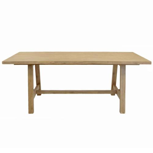 """Bedford 79"""" Rect. Dining Table """"A"""" Base, Brushed Smoke"""