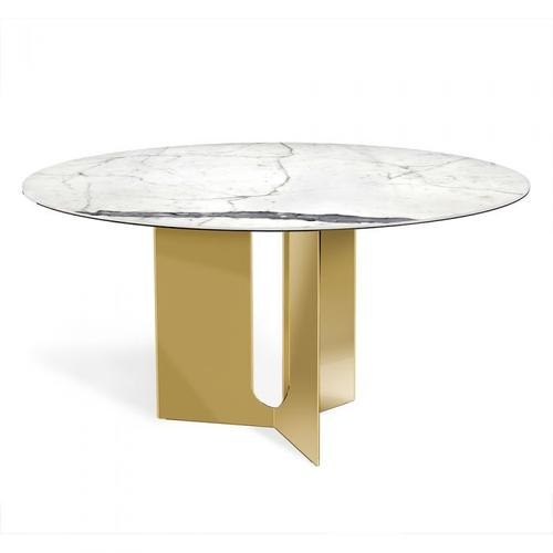 Pierre Dining Table - Brass