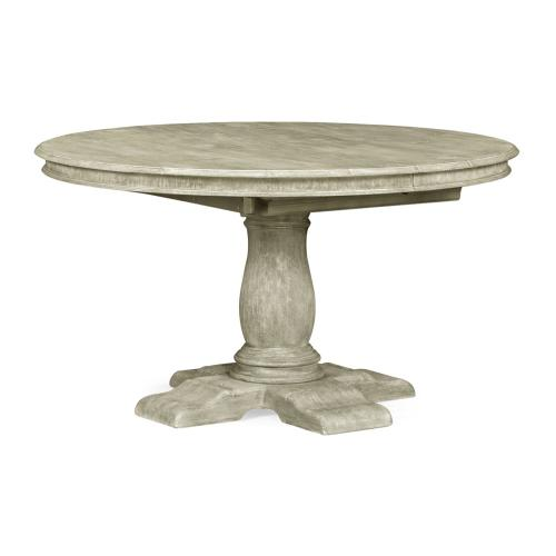 """54"""" extending greyed oak country table"""
