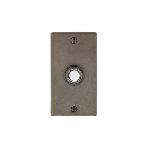 Metro Doorbell Button White Bronze Brushed