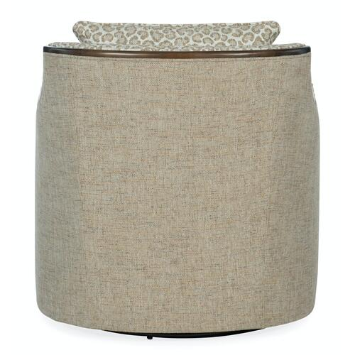 Sam Moore Furniture - Living Room Oakley Exposed Wood Swivel Chair