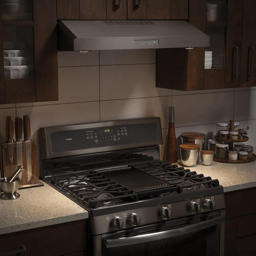 "GE Profile 30"" Under the Cabinet Vent Hood Slate PVX7300EJESC"
