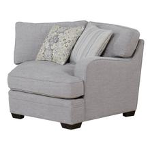 Analiese Rsf Corner Cuddler Chair W/ 2 Pillows Gray