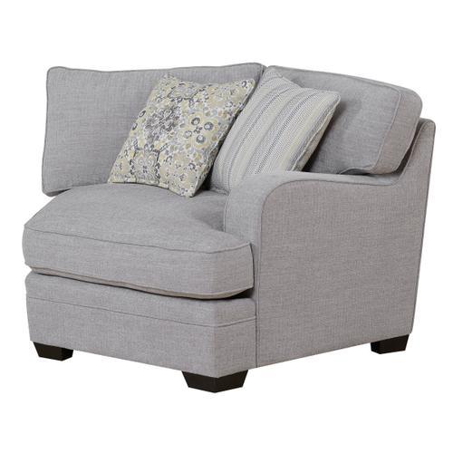 Emerald Home Analiese Sectional Chair Linen Gray U4315-12-13