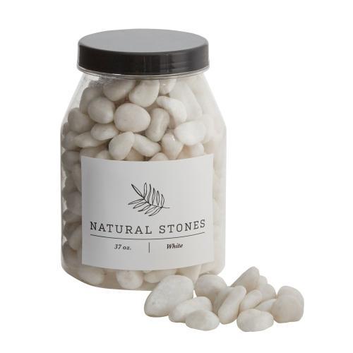 37 oz White Natural Stones