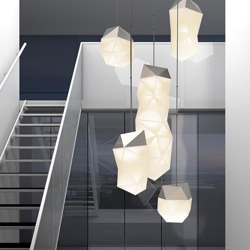 Sonneman - A Way of Light - Facets LED Pendant [Size=3-Light Large, Color/Finish=Polished Chrome]