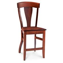 """View Product - Brookfield Stationary Barstool, 24"""" Seat Height / Wood Seat"""
