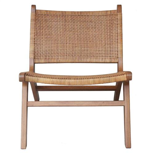 Delroy Webbing Rattan Accent Chair, Canary Brown