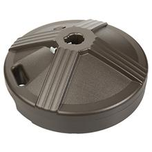See Details - 50lb Concrete Filled Bronze Resin Umbrella Base with Wheels