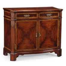 Mahogany serpentine two door cabinet