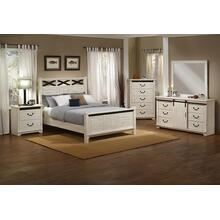 CAL KING BED - HB/FB/R - Antique White