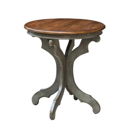 Crestview Collections - Gresham Textured Grey and Oak Veneer Accent Table