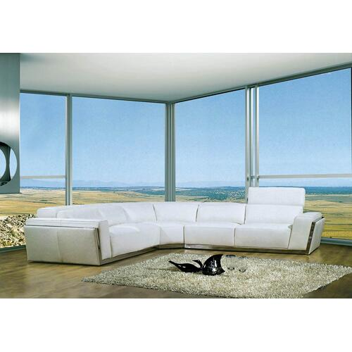 Divani Casa 8010A - Modern Bonded Leather Sectional Sofa
